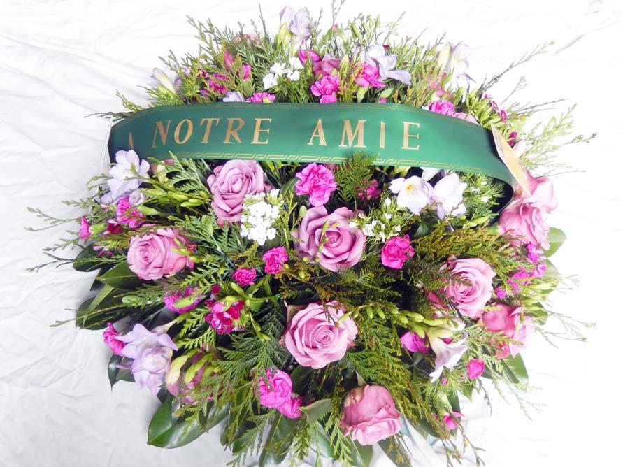Fleurs de deuil à Saint-Ay